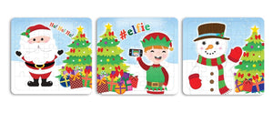 Pack of 3 Christmas Mini Puzzle Games - Xmas Stocking Fillers - Party Favours