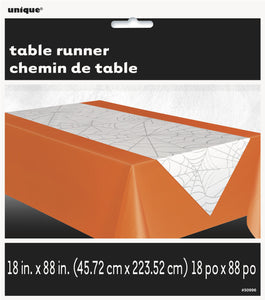 Spider Web White Table runner 47.7 x 223.5 cm - Halloween Tableware