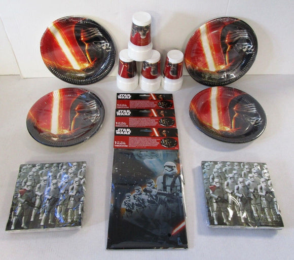 Star Wars The Force Awakens Party Tableware Pack for 32 People - Plates Cups etc
