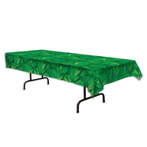 Green Tropical Palm Leaf Plastic Table cover - 137 cm x 274 cm  Party Tableware