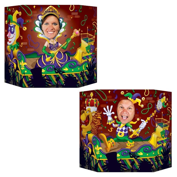 Mardi Gras Themed Photo Prop -  Carnival Celebrations Cutout Party Decorations