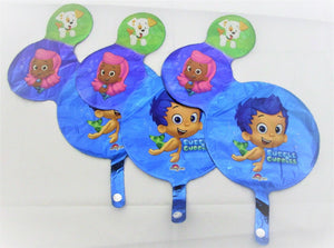 Pack of 3 Bubble Guppies Mini Shape Foil Helium filled balloons - Party Balloon