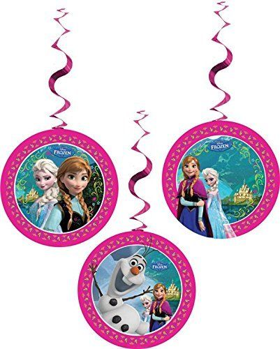 Pack of 3 Frozen Dangling Cutouts - Disney Hanging Party Decorations