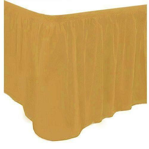 Gold Table Skirt - 73 x 426cm - Hollywood Party Tableware decoration Table skirt