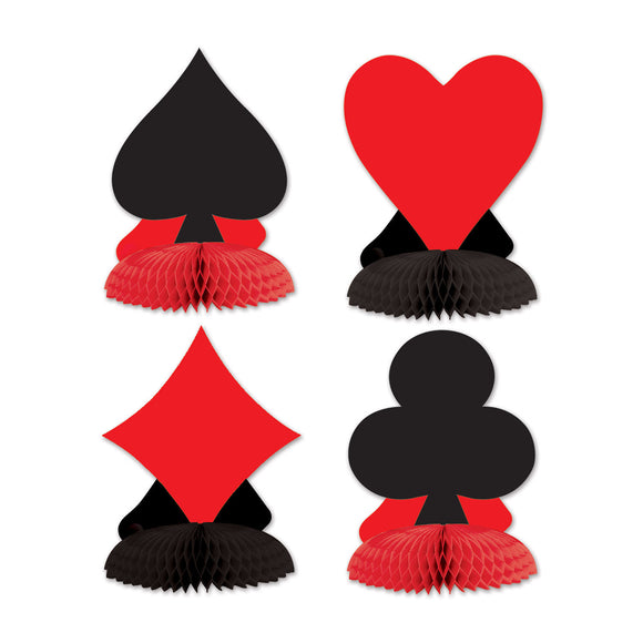 Card Suit Centerpieces - Casino Table Decoration - Playing Card Suit Decorations