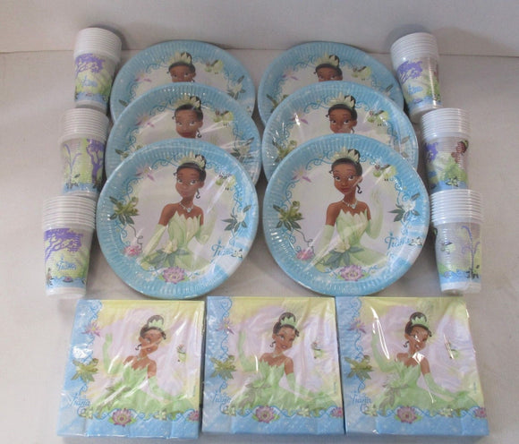 Disney Princess & The Frog Party Tableware for 60 People - Plates Cups Napkins