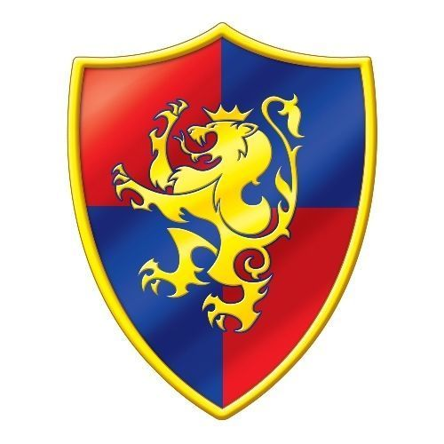 Medieval Knight Shield Crest Cutout - 40 cm Tall - Medieval Party Decorations