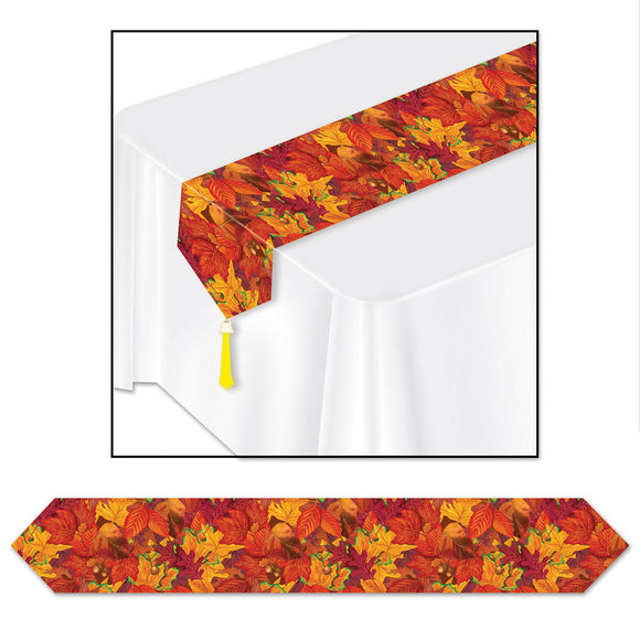 Fall Leaf Table Runner - 1.8 m Long - Autumn Tableware Party Decorations