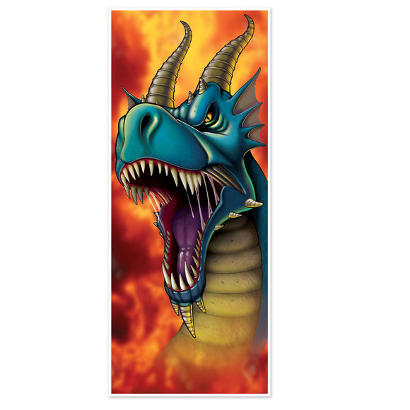Dragon Plastic Door Cover - 76 cm x 183 cm - Fantasy Dragons Party Decorations