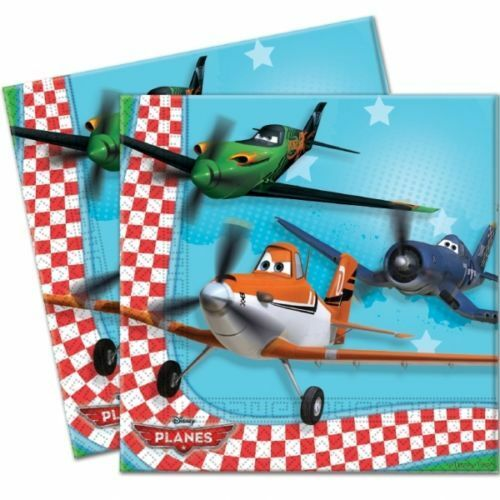 Pack of 20 Disney Pixar Planes Luncheon Napkins - 33cm x 33 cm - Party Tableware
