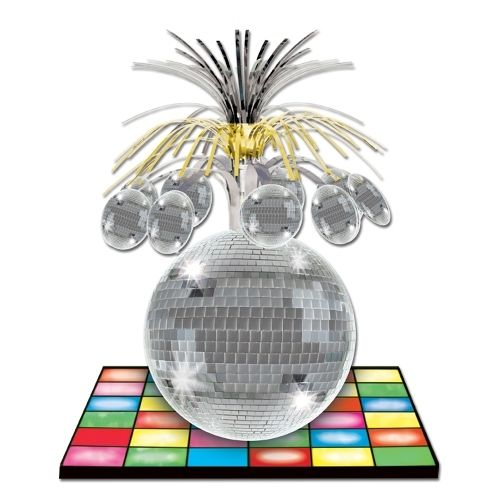 33 cm Disco Ball Centerpiece - 70's Party Table Decorations - 1970's Decoration
