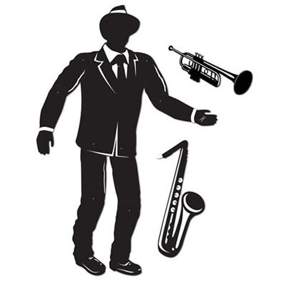 1.5m Jointed Jazz Silhouettes Decorations - 5ft Tall - 1920's Party Decoration