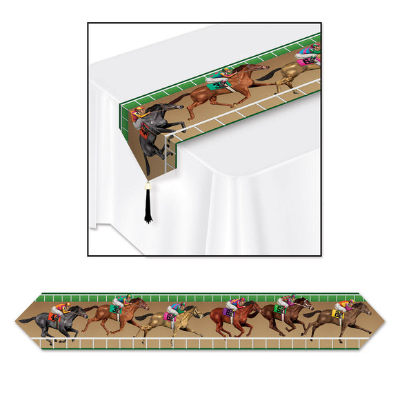 Horse Racing Table Runner - 6ft long - Grand National Party Decorations