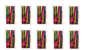 Pack of 10 Multi Coloured Shimmer Foil Door Curtains - Hanging Party Decorations