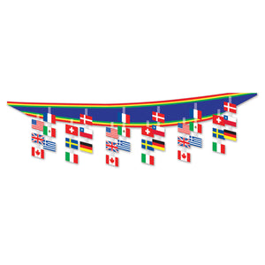 12ft International Flag Ceiling Decoration Around The World Party Hanging Decor