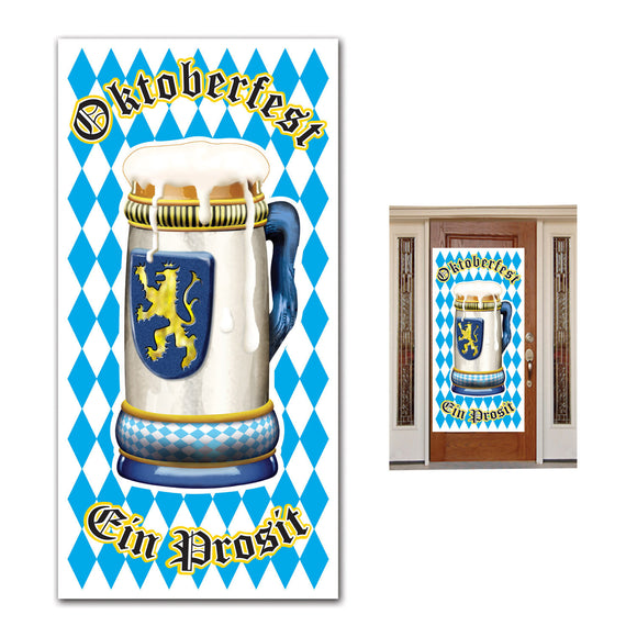 Oktoberfest Plastic Door Cover - German Beer Festival Party Decorations