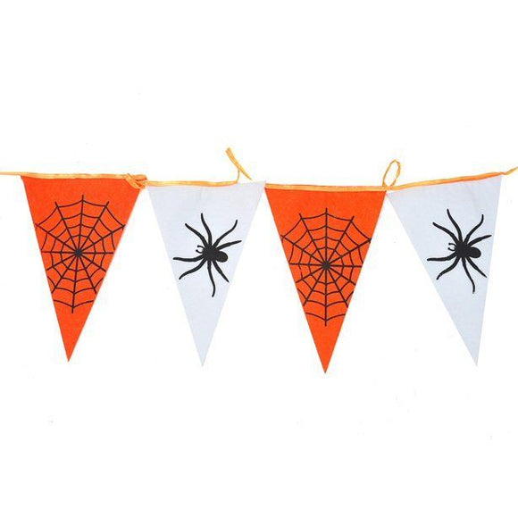 160cm Halloween Spider Fabric Bunting - Creepy Party Decorations