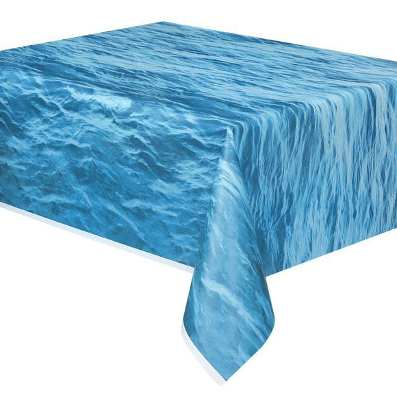 Ocean Waves Plastic Tablecover - 137 x 274 cm - Sea Party Tableware Table Cover
