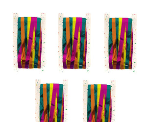 Pack of 5 Multi Coloured Shimmer Foil Door Curtains - Hanging Party Decorations