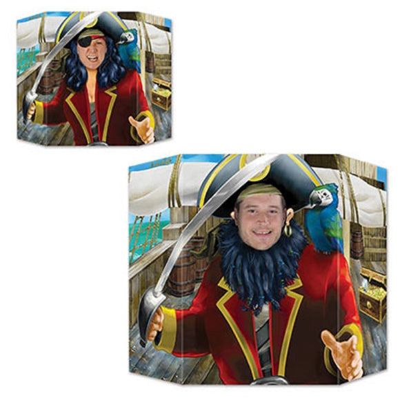 Pirate Double Sided Photo Prop - 94 cm x 64 cm - Pirates Party Decorations