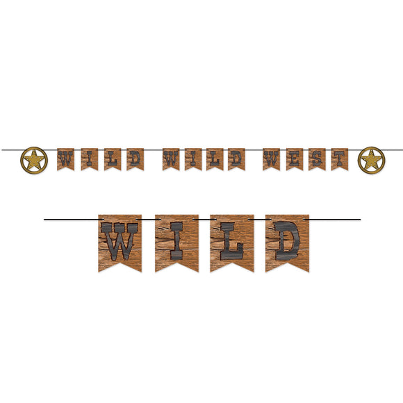10ft Wild Wild West Streamer - Western Party Banner - Hanging Decorations