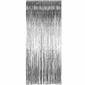 Pack of 50 Silver Shimmer Foil Door Curtain decorations Christmas Curtains Party