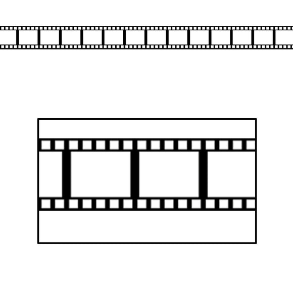 Filmstrip Border Trim - 11m - Hollywood Movie Star Party Decoration - Film Strip