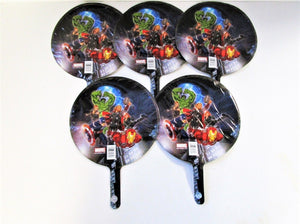 "Pack of 5 Avengers 9"" Helium Foil Balloons - Party Balloon - Marvel"