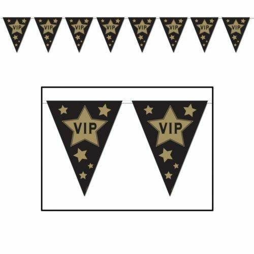 3m VIP Pennant Banner - 3 m x 25 cm - Hollywood & Movie Night Party Decorations