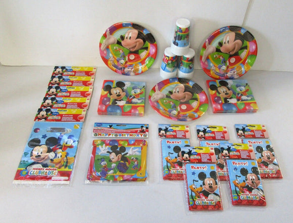 Mickey Mouse Party Pack for 30 People - Complete Children's Party Pack