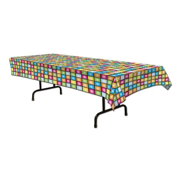 Disco Dance floor Table cover - 137 x 274 cm - 70's Disco Party Tableware