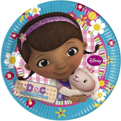 Pack of 8 Doc McStuffins 23 cm Paper Plates - Disney Party Tableware