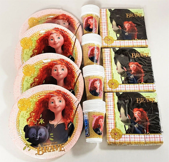 Disney Brave Party Tableware Pack for 30 People Disney Princess Plates Cups etc