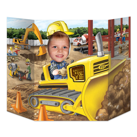 Digger Photo Prop - 94 x 64 cm - Construction Site Party Decorations - Builder