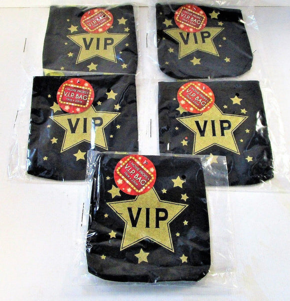 Pack of 5 V.I.P Goody Bags - Fabric Treat Bag -  Hollywood VIP Party Bag