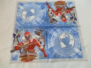Pack of 40 Power Rangers Party Napkins - 33 x 33 cm 2ply Napkin - Superhero