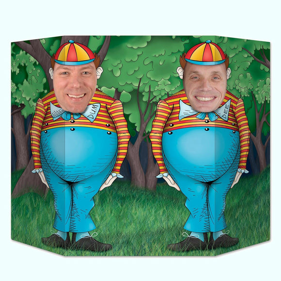 Alice In Wonderland Photo Prop - Tweedledum & Tweedledee Party Decorations