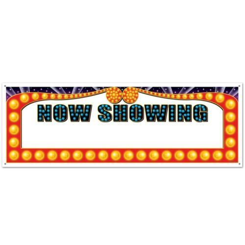 Now Showing 'Blank' Sign Banner - 5ft Sign - Hollywood Party Decorations