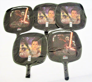 Pack of 5 Star Wars The Force Awakens Foil Helium Balloons - Kids Party Balloon