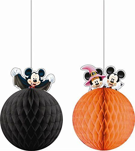 Pack of 2 Disney Mickey Mouse Hanging Decorations - Halloween Party Decoration