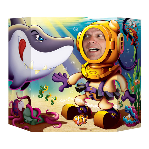 Under the Sea Shark Photo Prop - 94  x 64 cm - Deep Sea Animal Party Decorations