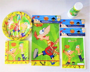 Phineas & Ferb Party Pack for 10 Children - Disney Tableware And Decorations Kit