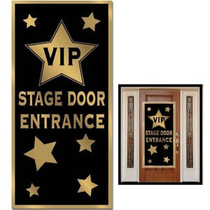 VIP Stage Entrance Door Cover - 152 x 76 cm - Golden Hollywood Party Decorations