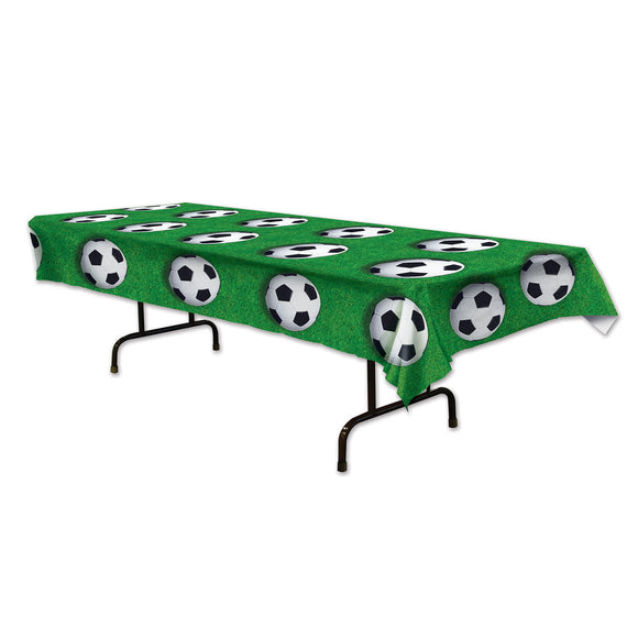 Football Plastic Table Cover - 137 x 274cm - Soccer Tableware - Party Decoration