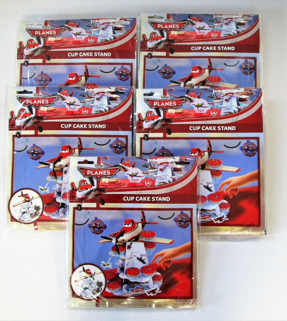 Pack of 5 Disney Planes 3 Tier Cake Stand - Party Tableware - Cup Cake Stands