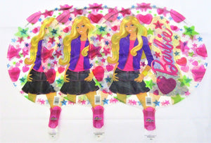Pack of 3 Barbie Foil Helium Balloons - 44 cm Kids Party Balloon