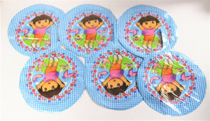 "Pack of 6 Dora The Explorer 9"" foil Helium Balloons - Kids Party Balloon"