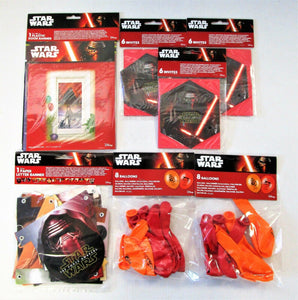 Disney Star Wars Party Decorations and Invitations Pack for 16 People - Kylo Ren