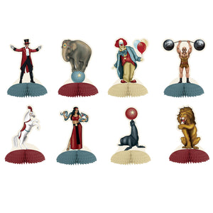 Pack of 8 Vintage Circus Mini Centerpiece - Party Table Decorations