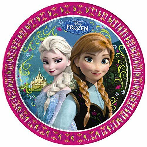 Pack of 8 Frozen 23 cm Paper Plates - Disney Party Tableware